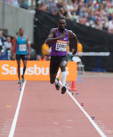 Kaftan GOMIS of France in the Long Jump during the Sainsbury's Anniversary Games, Athletics event at the Olympic Park, London, England on 25 July 2015. Photo by Andy Rowland.
