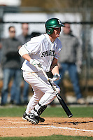 February 20, 2009:  Third baseman Chris Roberts (21) of Michigan State University during the Big East-Big Ten Challenge at Jack Russell Stadium in Clearwater, FL.  Photo by:  Mike Janes/Four Seam Images