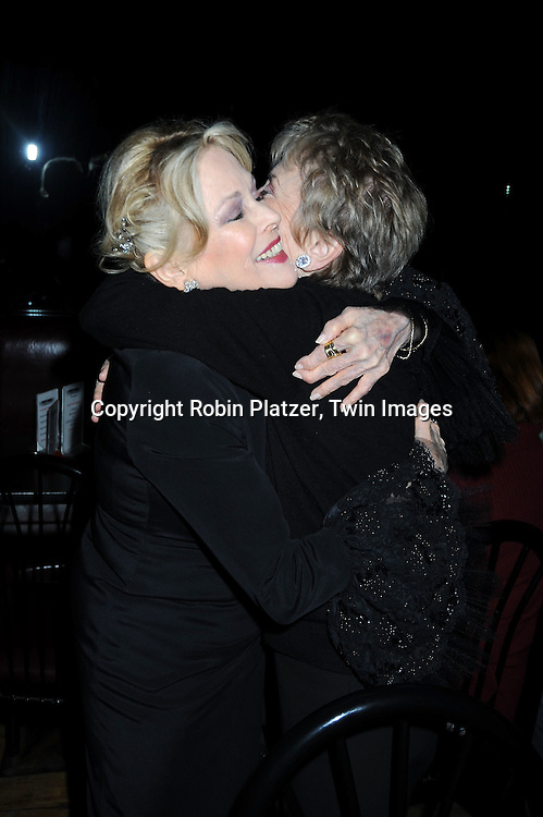 Rosemary Prinz and singer and actress Eileen Fulton performing at Don't Tell Mama on April 18, 2010 in New York City. Eileen Fulton has been on As The World Turns for 50 years. .photo by Robin Platzer/ Twin Images