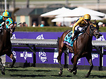November 1, 2019: Four Wheel Drive, ridden by Irad Ortiz Jr., wins the Breeders' Cup Juvenile Turf Sprint on Breeders' Cup World Championship Friday at Santa Anita Park on November 1, 2019: in Arcadia, California. Carolyn Simancik/Eclipse Sportswire/CSM