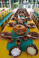 Cuemanco / Xochimilco, trajinera (boat). Aromas y Sabores with Chef Patricia Quintana, Mexico City, Mexico