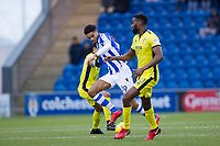 Michael`Mandron of Colchester United tries to find a way through the Cheltenham defence during Colchester United vs Cheltenham Town, Sky Bet EFL League 2 Football at the Weston Homes Community Stadium on 6th January 2018