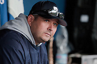24 October 2010: Robin Roy, Team manager of Rouen, is seen in the dugout  during Rouen 5-1 win over Savigny, during game 4 of the French championship finals, in Rouen, France.