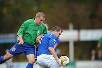 VOETBAL: SURHUISTERVEEN: Sportpark 't Ketting, 20-10-2012, vv 't Fean '58 - SC Veenwouden, Eindstand 2-1, ? (#? | Veenwouden), Joost Nieuwenhuis (#11 | 't Fean '58), ©foto Martin de Jong