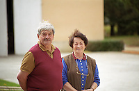 M et Mme Chatonnet, owners. Chateau Haut Chaigneau, Lalande de Pomerol, Bordeaux, France