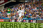 David Moran, Kerry in action against  Kildare in the All Ireland Quarter Final at Croke Park on Sunday.