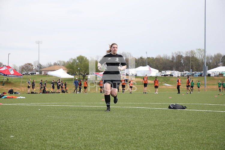 Browns Summit, NC - April 6, 2018: Girl's Development Academy Spring Showcase at Bryan Park.