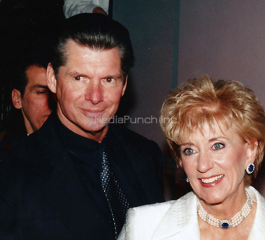 Linda, Vince McMahon<br /> Photo to By John Barrett/PHOTOlink/MediaPunch