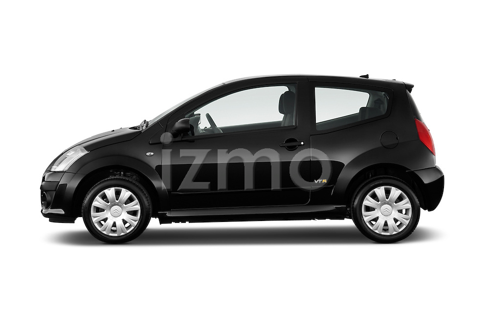 Driver side profile view of a 2008 - 2009 Citroen C2 VTR 3 Door Hatchback 2WD