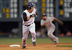 25 August  2007:  Colorado Rockies second baseman, Kazuo Matsui, breaks for third during the Rockies 5-1 victory over the Washington Nationals at Coors Field, Denver Colorado.