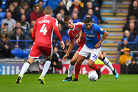 Gareth Evans of Portsmouth evades the Gillingham  defenders during Portsmouth vs Gillingham, Sky Bet EFL League 1 Football at Fratton Park on 12th October 2019