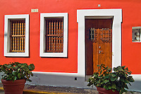 Residence, Orange Wall, Doorway, beautiful, 18th-19th-century architecture, historic, Doorways, Doors, Cobblestone, Streets, Pavements , pictures of front door entrances