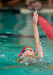 Willow Creek's Mia Coppola competes in the 100 yard medley relay race during the 53rd annual Country Club Swimming Championships on Monday, Aug. 6, 2012, in Kearns, Utah. (© 2012 Douglas C. Pizac)