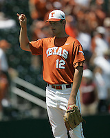 Texas Longhorns P Brandon Workman during the 2008 season. Photo by Andrew Woolley / Four Seam Images.