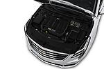 Car stock 2018 Cadillac XTS Luxury 4 Door Sedan engine high angle detail view