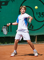 August 4, 2014, Netherlands, Dordrecht, TC Dash 35, Tennis, National Junior Championships, NJK,  Niklas Eltingh (NED)<br /> Photo: Tennisimages/Henk Koster