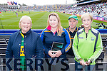 Pictured at the All Ireland Minor Football Final held in Croke Park on Sunday last were l-r: Maureen Griffin (Cahersiveen), Deirdre O'Sullivan Darcy (Killarney), Mike Halloran (Tralee) and Marie Molyneaux (Lixnaw).