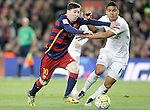 FC Barcelona's Leo Messi (l) and Real Madrid's Carlos Henrique Casemiro during La Liga match. April 2,2016. (ALTERPHOTOS/Acero)