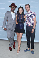 NEW YORK, NY - MAY 14: Ne-Yo, Jenna Dewan and Derek Hough at the 2018 NBCUniversal Upfront at Rockefeller Center in New York City on May 14, 2018.  <br /> CAP/MPI/RW<br /> &copy;RW/MPI/Capital Pictures