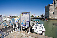 The old port with passenger water bus, La Rochelle Charente-Maritime France.