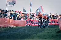 Inge van der Heijden (NED) on her way to the rainbow jersey &amp; gold medal<br /> <br /> Women&rsquo;s U23 race<br /> <br /> UCI 2019 Cyclocross World Championships<br /> Bogense / Denmark<br /> <br /> &copy;kramon