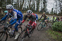 Michael van Staeyen (BEL/Cofidis) on the Chemin de Wih&eacute;ries cobble section (Honelles)<br /> <br /> GP Le Samyn 2017 (1.1)