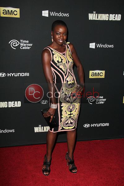 "Danai Gurira<br /> at ""The Walking Dead"" Season Four Premiere, AMC Universal Citywalk Stadium 19,  Universal City, CA 10-03-13<br /> Dave Edwards/DailyCeleb.com 818-249-4998"