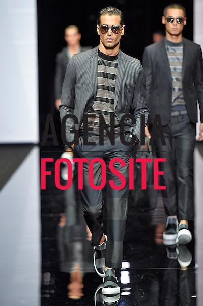 Milao, Italia &ndash; 06/2014 - Desfile de Emporio Armani durante a Semana de moda masculina de Milao - Verao 2015. <br /> Foto: FOTOSITE