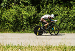 Romain Bardet (FRA) AG2R La Mondiale in action during Stage 4 of the Criterium du Dauphine 2017, an individual time trial running 23.5km from La Tour-du-Pin to Bourgoin-Jallieu, France. 7th June 2017. <br /> Picture: ASO/A.Broadway | Cyclefile<br /> <br /> <br /> All photos usage must carry mandatory copyright credit (&copy; Cyclefile | ASO/A.Broadway)