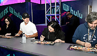 FOX FAN FAIR AT SAN DIEGO COMIC-CON© 2019: L-R: FAMILY GUY Executive Producer Kara Vallow, Cast Members Mike Henry and Alex Borstein, and Executive Producer Alec Sulkin during the FAMILY GUY booth signing on Saturday, July 20 at the FOX FAN FAIR AT SAN DIEGO COMIC-CON© 2019. CR: Alan Hess/FOX © 2019 FOX MEDIA LLC