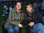 Emma and Victoria Fenlon at the outdoor cinema in Inse Bay Laytown. Photo:Colin Bell/pressphotos.ie