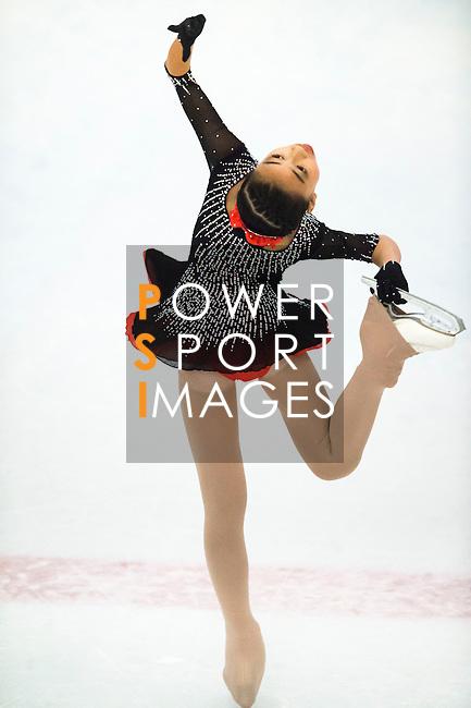 Jinxia Sun of China competes during the Asian Junior Figure Skating Challenge Hong Kong 2016 at Kowloon Tong's Festival Walk Glacier on 03 October 2016, in Hong Kong, China. Photo by Marcio Machado / Power Sport Images