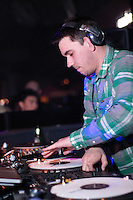 Adam Goldstein, known professionally as DJ/AM, plays a set to a capacity crowd at trendy Vancouver hot-spot 'Pop Opera', May 21, 2009.  (Scott Alexander/Pressphotointl.com)