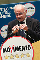 Elio Lannutti<br /> Roma 29/01/2018. Presentazione dei candidati nelle liste uninominali del Movimento 5 Stelle.<br /> Rome January 29th 2018. Presentation of the candidates for Movement 5 Stars.<br /> Foto Samantha Zucchi Insidefoto