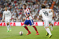 Manzukic of Atletico de Madrid during La Liga match between Real Madrid and Atletico de Madrid at Santiago Bernabeu stadium in Madrid, Spain. September 13, 2014. (ALTERPHOTOS/Caro Marin)