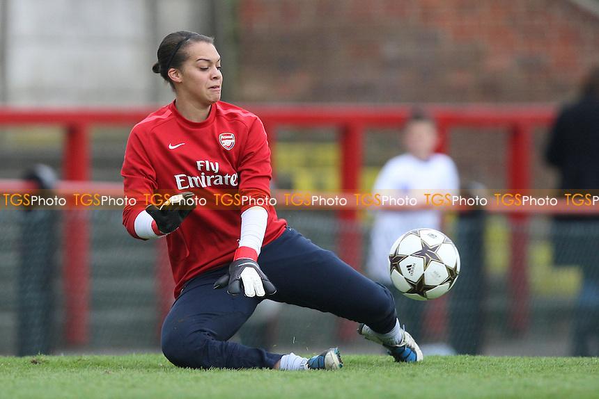 Rebecca Spencer of Arsenal - Arsenal Ladies vs Olympique Lyonnais - UEFA Women's Champions League Semi-Final 2nd Leg at Boreham Wood FC - 16/04/11 - MANDATORY CREDIT: Gavin Ellis/TGSPHOTO - Self billing applies where appropriate - Tel: 0845 094 6026