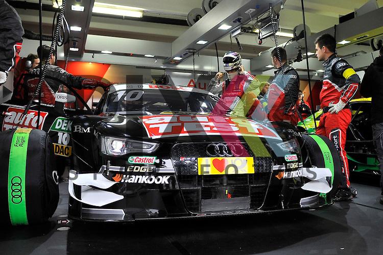 # 10 Timo Scheider auf Audi RS5 DTM Audi Sport vom Team Phoenix mach sich fertig fuer das Training Roll Out bei der DTM Hockenheimring.<br /> <br /> Foto &copy; P-I-X.org *** Foto ist honorarpflichtig! *** Auf Anfrage in hoeherer Qualitaet/Aufloesung. Belegexemplar erbeten. Veroeffentlichung ausschliesslich fuer journalistisch-publizistische Zwecke. For editorial use only.