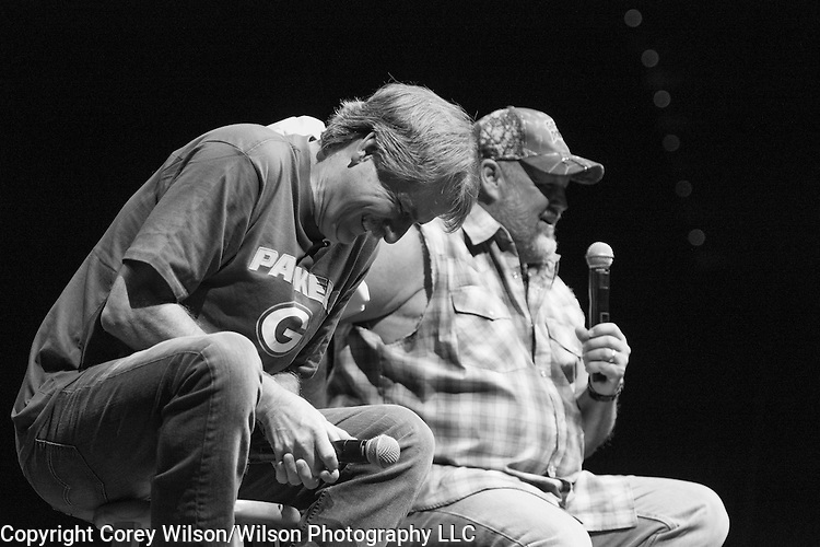 Jeff Foxworthy and Larry The Cable Guy perform at the Resch Center in Green Bay, Wis., on Oct., 9, 2015.