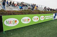 Allston, MA - Saturday, May 07, 2016: mango.org sign board at a regular season National Women's Soccer League (NWSL) match at Jordan Field.