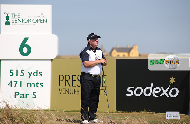 Ian Woosnam (WAL) on the 6th tee during Round One of the 2014 Senior Open Championship presented by Rolex from Royal Porthcawl Golf Club, Porthcawl, Wales. Picture:  David Lloyd / www.golffile.ie