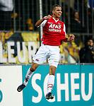 Nederland, Venlo, 25 januari 2013.Eredivisie.Seizoen 2012-2013.VVV Venlo-AZ.Adam Maher van AZ juicht en balt zijn vuisten nadat hij de 0-1 heeft gescoord.
