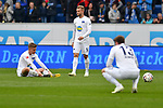 14.04.2019, PreZero Dual Arena, Sinsheim, GER, 1. FBL, TSG 1899 Hoffenheim vs. Hertha BSC Berlin, <br /> <br /> DFL REGULATIONS PROHIBIT ANY USE OF PHOTOGRAPHS AS IMAGE SEQUENCES AND/OR QUASI-VIDEO.<br /> <br /> im Bild: Frust bei Maximilian Mittelst&auml;dt/ Mittelstaedt (#17, Hertha BSC Berlin), Pascal K&ouml;pke / Koepke (#14, Hertha BSC Berlin), Lukas Kl&uuml;nter / Kluenter / Klunter (Hertha BSC Berlin #13)<br /> <br /> Foto &copy; nordphoto / Fabisch