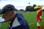 Aldershot Town 0 Torquay United 3, 15/08/2007. Recreation Ground, Football Conference.Torquay's first game in the Blue Square Premier. A 330 mile round trip to Aldershot Town's Recreation Ground. The Aldershot mascot (The Pheonix) on the touchline before kick off.