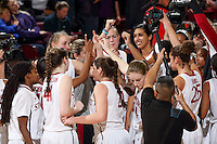 STANFORD, CA - February 27, 2014: Stanford Cardinal after Stanford's 83-60 victory over Washington at Maples Pavilion.