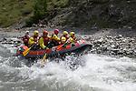 Descente en raft sur le Guil entre Ristolas et Abri&eacute;s<br /> Rafting on guil River between Ristolas and Abries