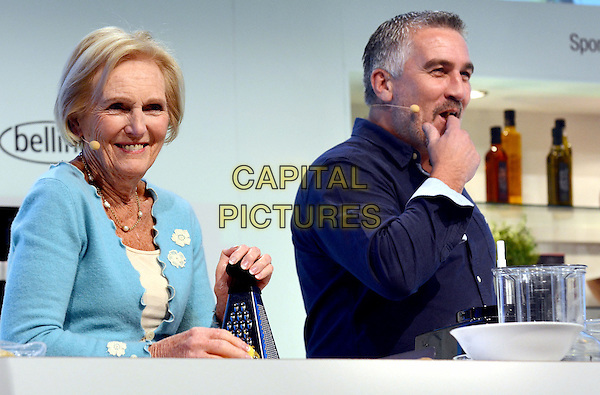 LONDON, ENGLAND - NOVEMBER 15: Mary Berry &amp; Paul Hollywood at the BBC Good Food Show, Olympia on November 15, 2013 in London, England<br /> CAP/PP/BK<br /> &copy;Bob Kent/PP/Capital Pictures