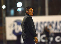 ENVIGADO- COLOMBIA, 31-08-2019.Flabio Torres director técnico de Rionegro ante el Envigado  durante partido por la fecha 9 de la Liga Águila II 2019 jugado en el estadio Polideportivo Sur de la ciudad de Medellín. /Flabio Torres coach of Rionegro agaisnt of  Envigado during the match for the date 9 of the Liga Aguila II 2019 played at Polideportivo Sur stadium in Medellin  city. Photo: VizzorImage / Leon Monsalve/ Contribuidor