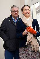 Prince Laurent and Princess Claire of Belgium attend the inauguration of a building  - Belgium