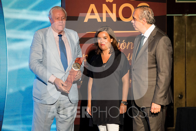 Emiliano Rodriguez Rodriguez during the 80th Aniversary of the National Basketball Team at Melia Castilla Hotel, Spain, September 01, 2015. <br /> (ALTERPHOTOS/BorjaB.Hojas)