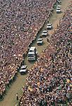 Pope John Paul 2 visits Glasgow Scotland UK Popemobile in Bellahouston Park 1982 UK 1980s